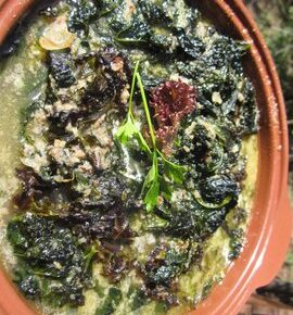 Kale Simmered in Broth