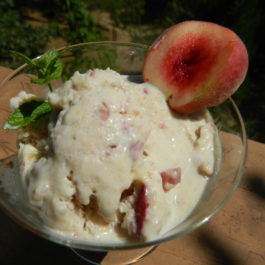 Peach & Banana Ice Cream with Coconut Milk